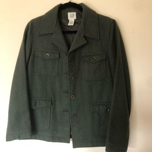 GAP Military Style Jacket ARMY Forest Green color